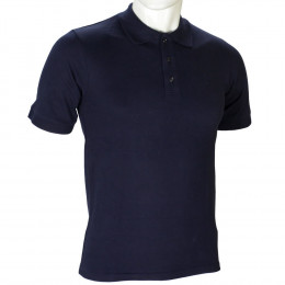 Милитарка™ футболка поло Полиция Basic 100% х/б Dark Navy Blue