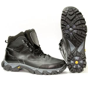 Милитарка™ ботинки Коршун кожаные чёрные